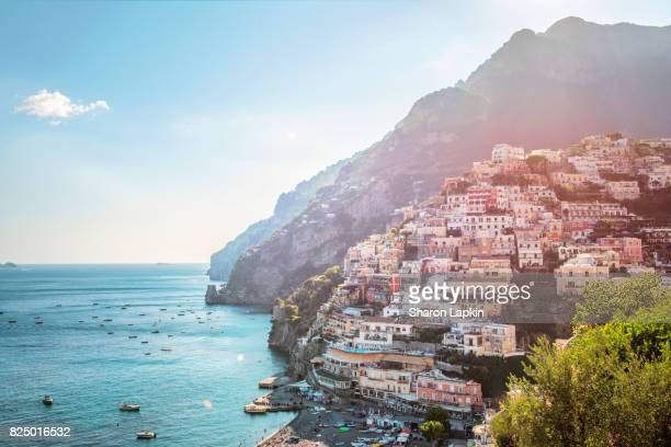 positano - mediterranean sea stock pictures, royalty-free photos & images
