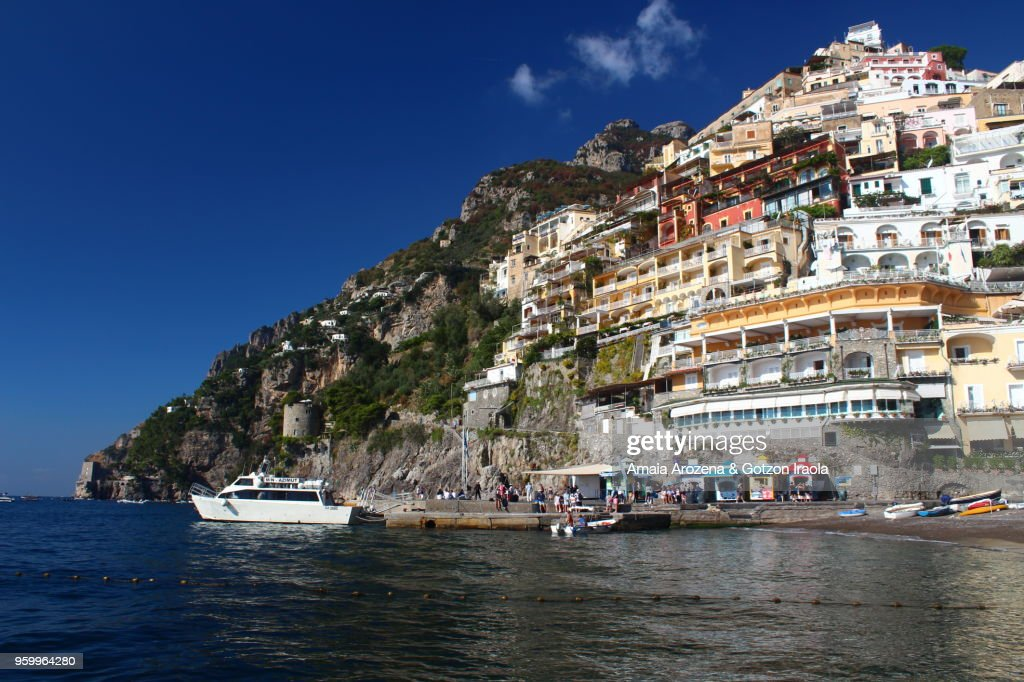 Positano waterfront. The Amalfi Coast, Campania, Italy : Stock-Foto