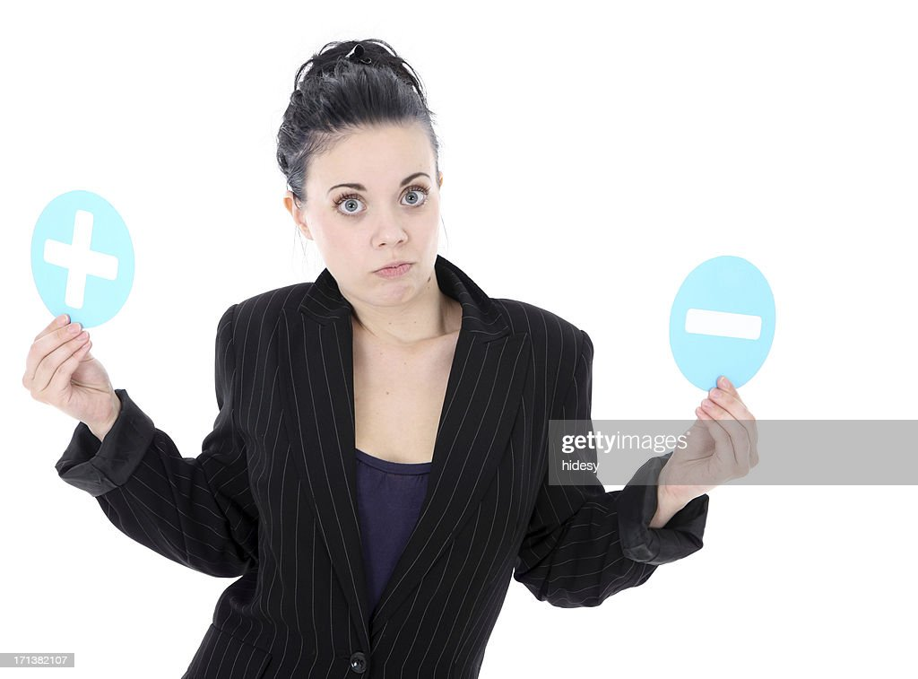 Positiive and Negative : Stock Photo