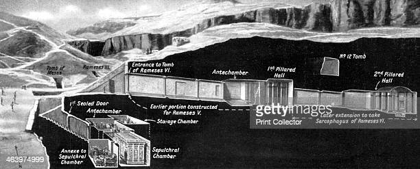 Position of the tomb of Tutankhamun in the Valley of Kings Egypt 19331934 The discovery of Tutankhamun's tomb in 1922 by British archaeologist Howard...