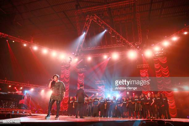 Positive Choir perform on stage at the MOBO Awards at First Direct Arena Leeds on November 29 2017 in Leeds England