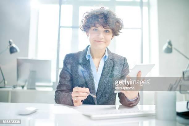 CEO mujer positiva