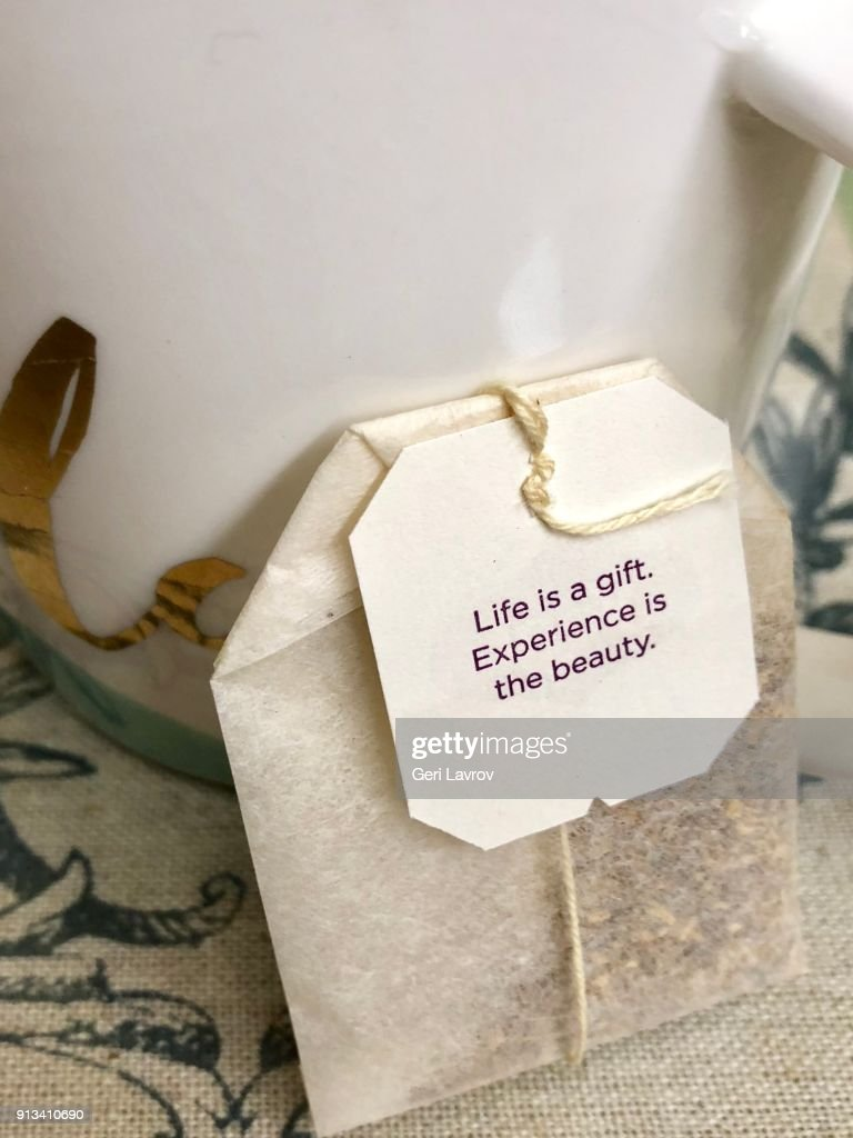 Positive Message On My Teabag Stock Photo | Getty Images