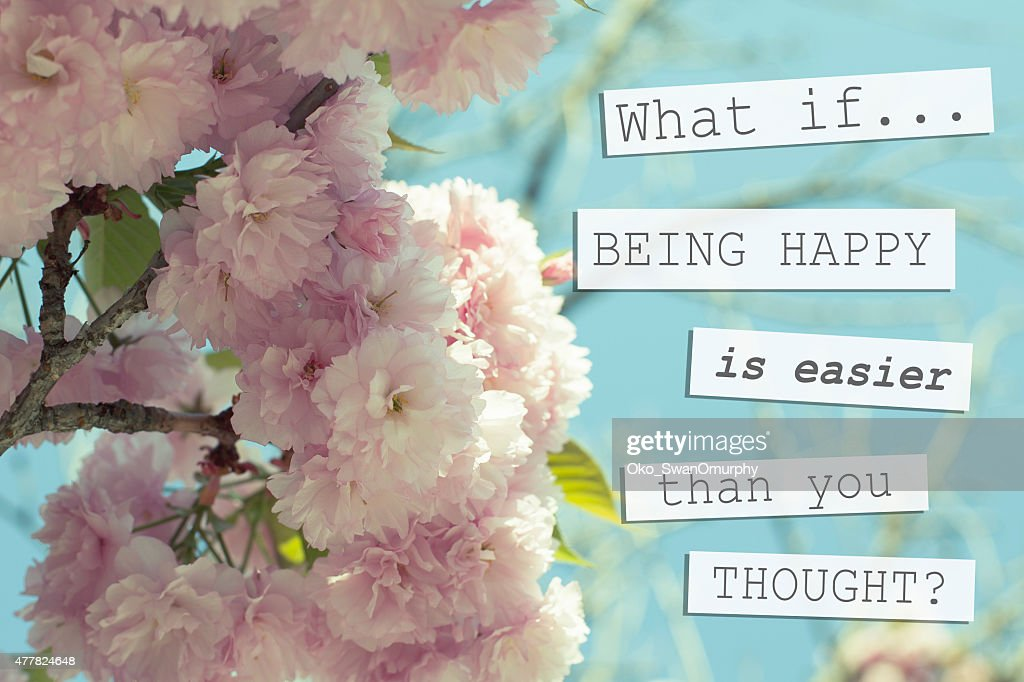 Positive Quote About Happiness Background Design