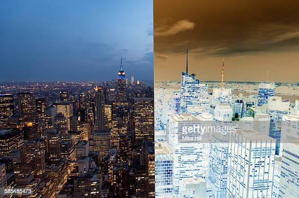 Positive/negative view of Manhattan, NewYork