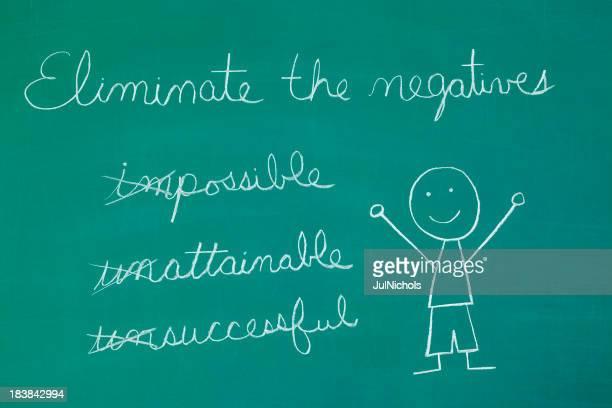 Positivity Chalk Drawing