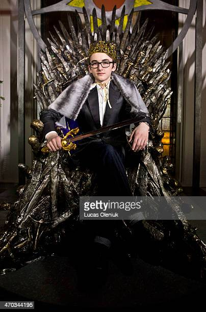 Possibly the next king of HBO's hit series 'Game of Thrones' Isaac Hempstead Wright poses at a publicity event in Toronto February 18 2014