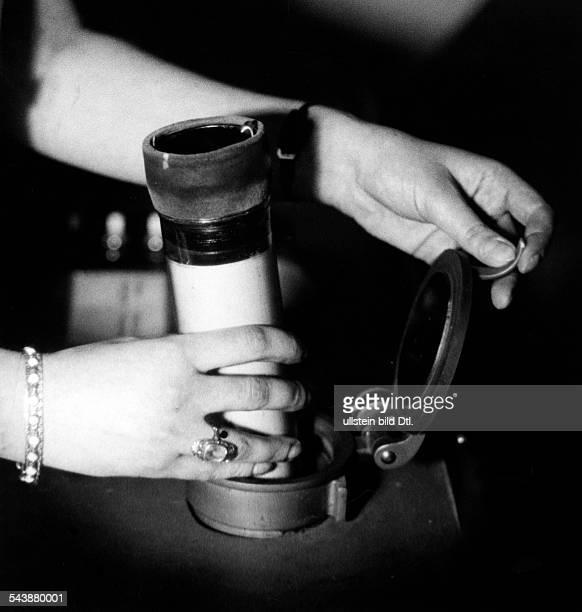 Post a pneumatic tube Photographer Curt Ullmann ca 1940Vintage property of ullstein bild