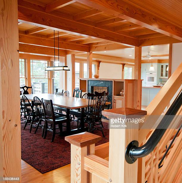 Post and Beam Construction Home Interior