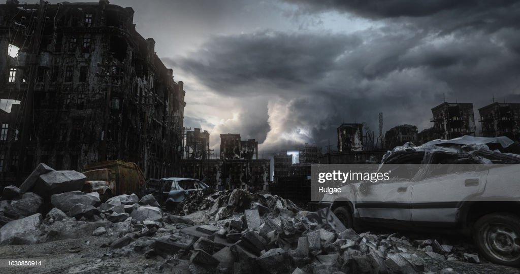 Post Apocalypse Urban Landscape : Stock Photo
