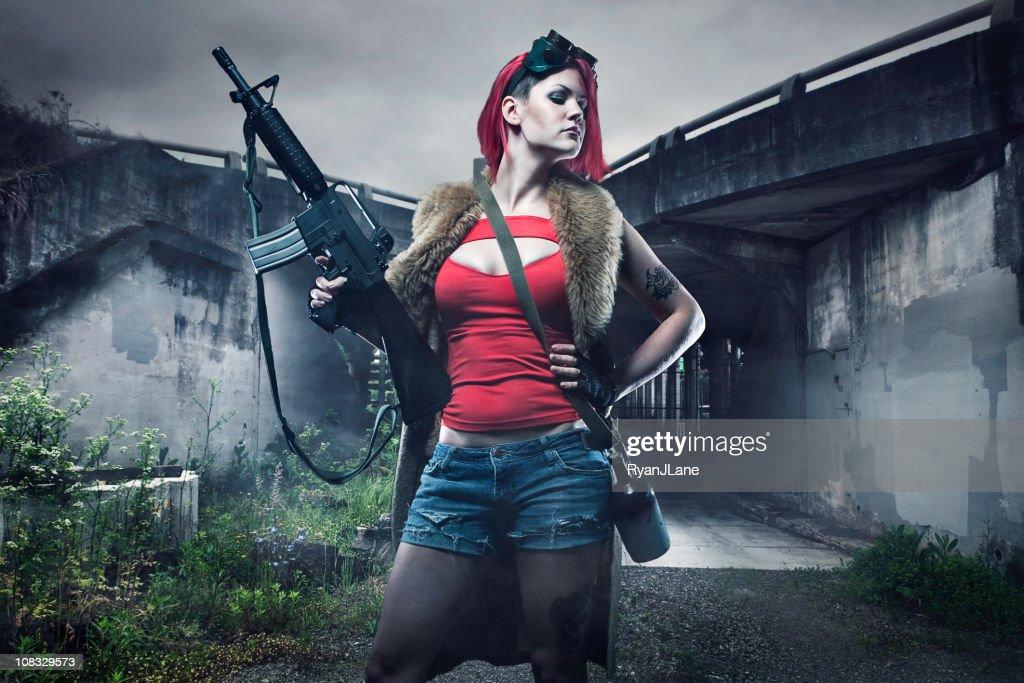 Post Apocalyptic Girl : Stock Photo