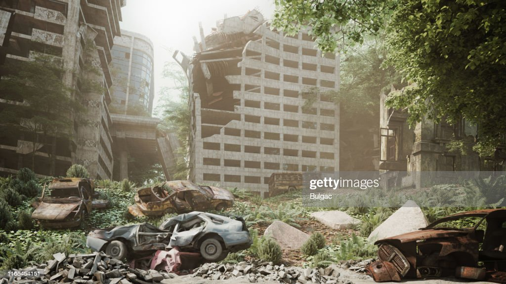Post Apocalyptic Urban Landscape High Res Stock Photo Getty Images