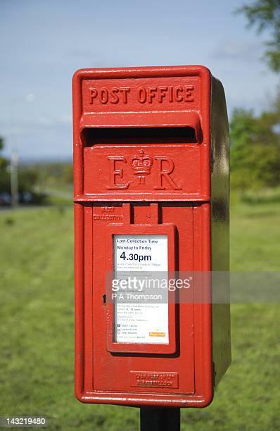 ER Post Box, Lancashire, England