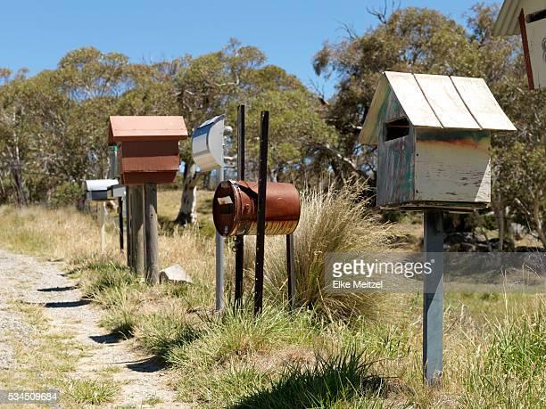 post boxes in rural Australia