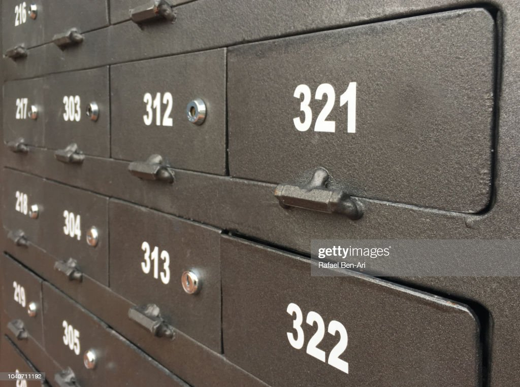 Post Boxes with Numbers : Stock Photo