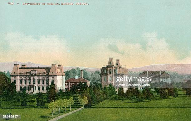 A post card of the campus University of Oregon in Eugene Oregon 1925