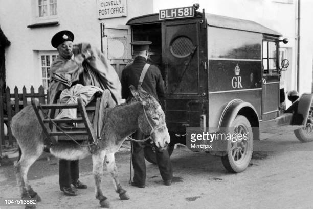 Post collections and deliveries Clovelly Post Office Devon 6th October 1935