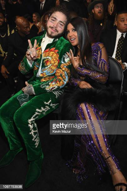 Post Malone and Toni Braxton during the 61st Annual GRAMMY Awards at Staples Center on February 10 2019 in Los Angeles California