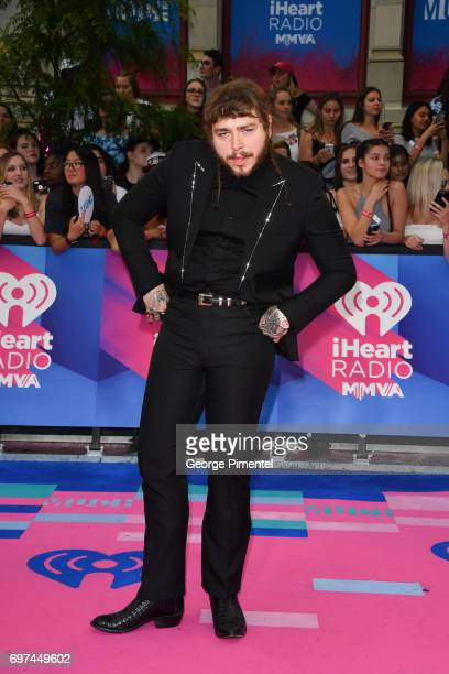 Post Malone arrives at the 2017 iHeartRADIO MuchMusic Video Awards at MuchMusic HQ on June 18 2017 in Toronto Canada