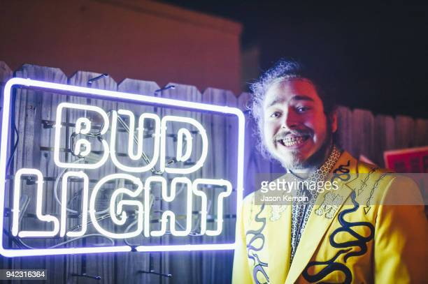 Post Malone attends Bud Light's Dive Bar Tour at the Exit/In on April 4, 2018 in Nashville, Tennessee.