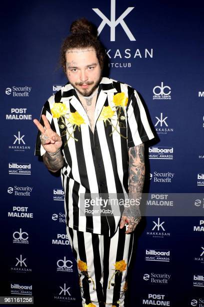 Post Malone attends the 2018 Billboard Music Awards official after party at Hakkasan Nightclub presented by Security Benefit at MGM Grand Hotel...