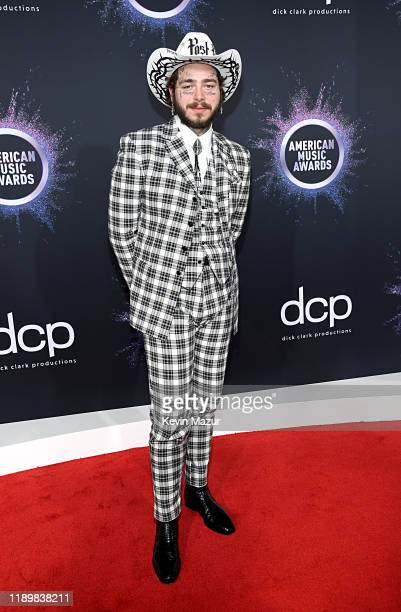 Post Malone attends the 2019 American Music Awards at Microsoft Theater on November 24 2019 in Los Angeles California