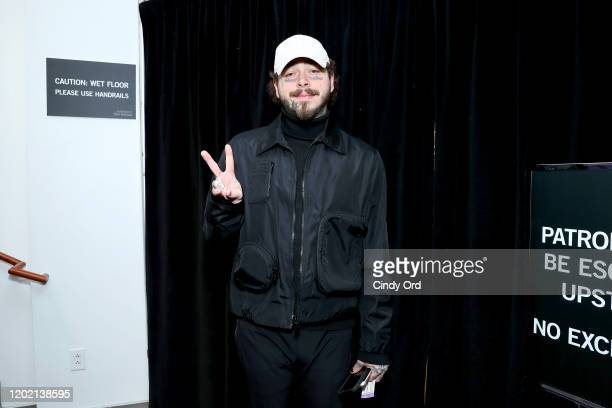 "Post Malone attends the 2020 Sundance Film Festival - ""Palm Springs"" Premiere at Library Center Theater on January 26, 2020 in Park City, Utah."