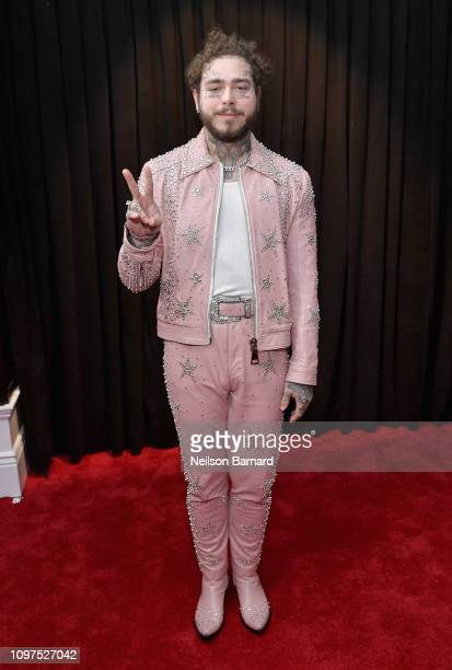 Post Malone attends the 61st Annual GRAMMY Awards at Staples Center on February 10 2019 in Los Angeles California