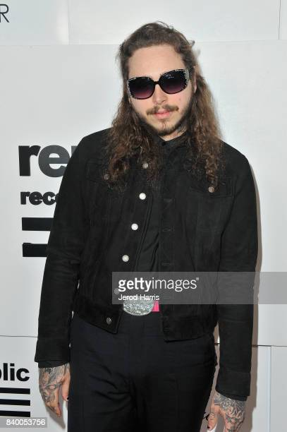 Post Malone attends the VMA after party hosted by Republic Records and Cadillac at TAO restaurant at the Dream Hotel on August 27 2017 in Los Angeles...