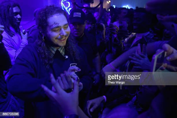 Post Malone greets fans at Pandora Sounds Like You 2017 on December 5 2017 in New York City