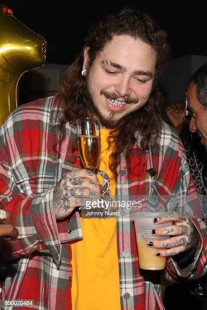 Post Malone In Concert at PlayStation Theater on September 19 2017 in New York City
