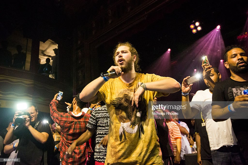 Post Malone performs at House Party NYC on August 20, 2015