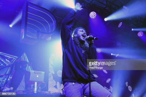 Post Malone performs at Pandora Sounds Like You 2017 on December 5 2017 in New York City