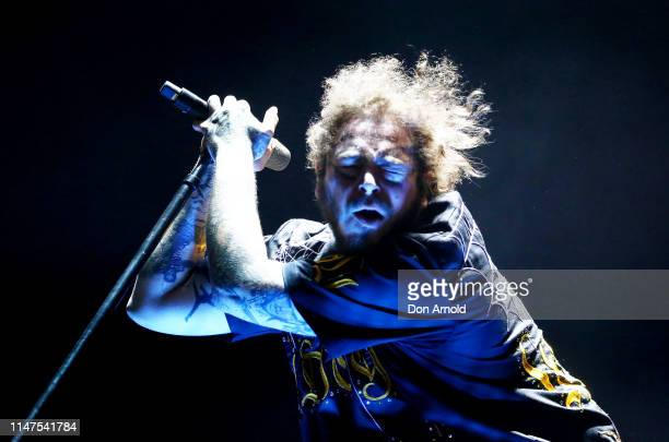 Post Malone performs at Qudos Bank Arena on May 07, 2019 in Sydney, Australia.