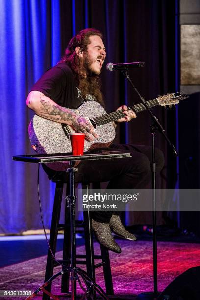 Post Malone performs at The GRAMMY Museum on September 6 2017 in Los Angeles California
