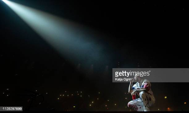 Post Malone performs at the Resorts World Arena on February 16 2019 in Birmingham England