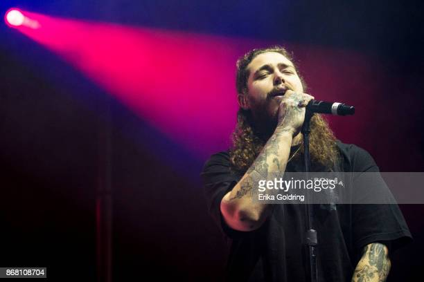 Post Malone performs during the 2017 Voodoo Music Arts Experience at City Park on October 29 2017 in New Orleans Louisiana