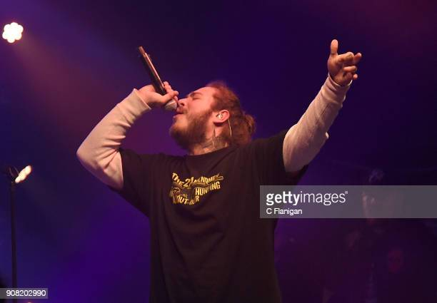 Post Malone performs during the 2018 Sundance Film Festival at Park City Live Snow Fest on January 20 2018 in Park City Utah