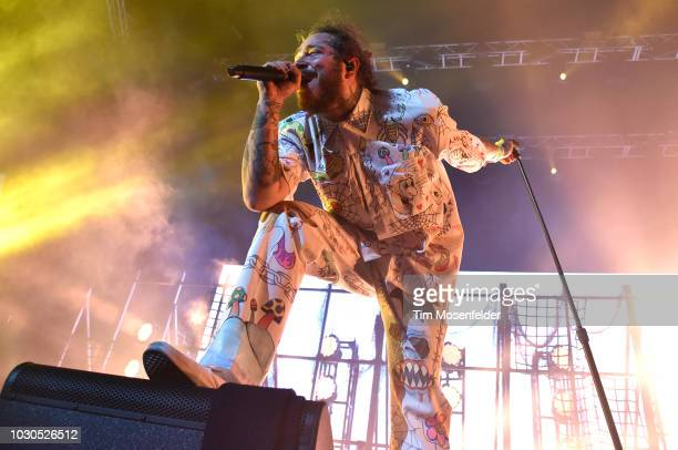 Post Malone performs during the 30th anniversary of KMEL Summer Jam at SAP Center on September 9 2018 in San Jose California