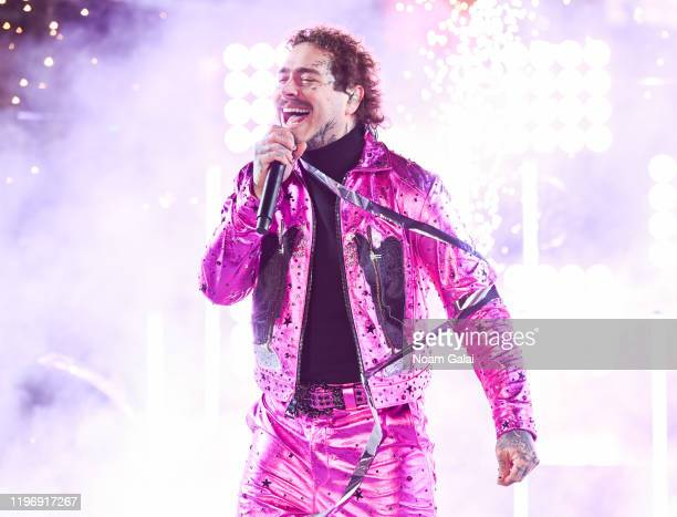 Post Malone performs during the Times Square New Year's Eve 2020 Celebration on December 31, 2019 in New York City.