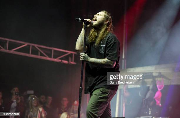 Post Malone performs during Voodoo Music Arts Experience at City Park on October 29 2017 in New Orleans Louisiana