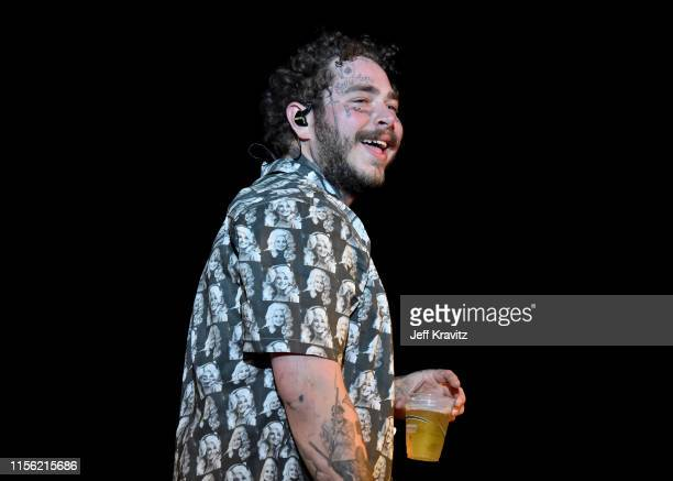 Post Malone performs on What Stage during the 2019 Bonnaroo Arts And Music Festival on June 15, 2019 in Manchester, Tennessee.