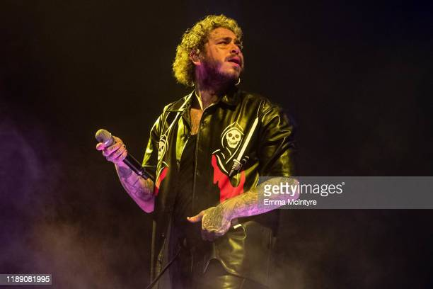 Post Malone performs onstage at The Forum on November 20, 2019 in Inglewood, California.