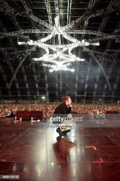 Post Malone performs onstage during 2018 Coachella Valley Music And Arts Festival Weekend 1 at the Empire Polo Field on April 14 2018 in Indio...
