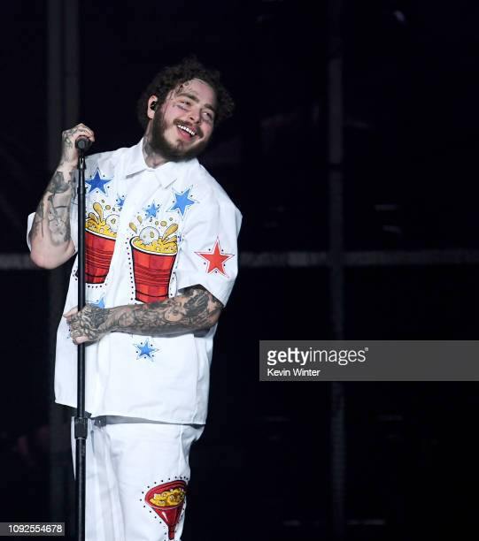 Post Malone performs onstage during Day 2 of Bud Light Super Bowl Music Fest at State Farm Arena on February 1, 2019 in Atlanta, Georgia.