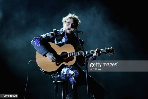 Post Malone performs onstage during the 61st Annual GRAMMY Awards at Staples Center on February 10, 2019 in Los Angeles, California.