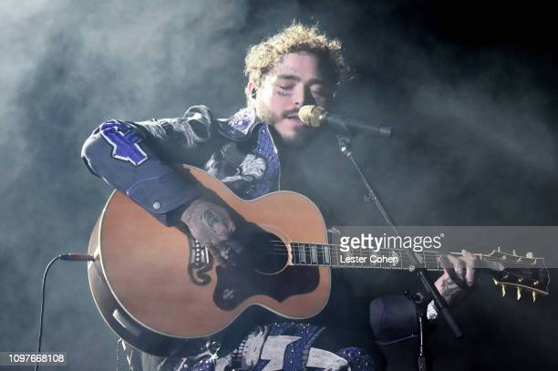 Post Malone performs onstage during the 61st Annual GRAMMY Awards at Staples Center on February 10 2019 in Los Angeles California