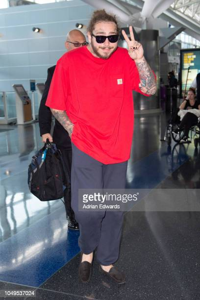 Post Malone seen at JFK airport on October 4 2018 in New York City