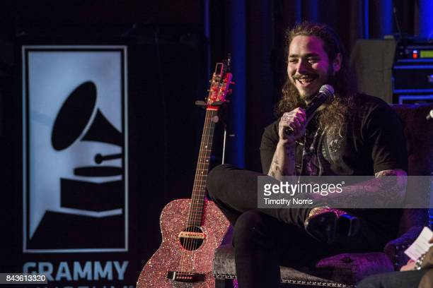 Post Malone speaks at The GRAMMY Museum on September 6 2017 in Los Angeles California