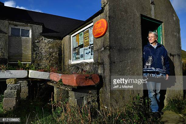 Post mistress Sheila Gear, working in the Island of Foula Post Office on September 30, 2016 in Foula, Scotland. Foula is the remotest inhabited...